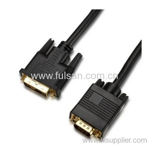 high quality DVI to VGA cable Gold Nickel plated male to male