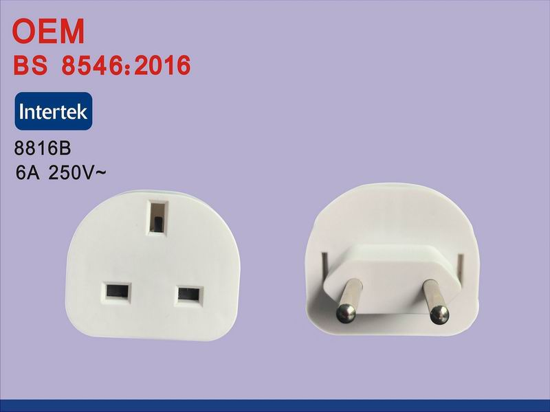 Universal Travel Adapter Us Au EU to UK Plug Travel Wall AC Power Adapter 250V