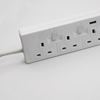 4 way UK electrial switched power extension socket with USB