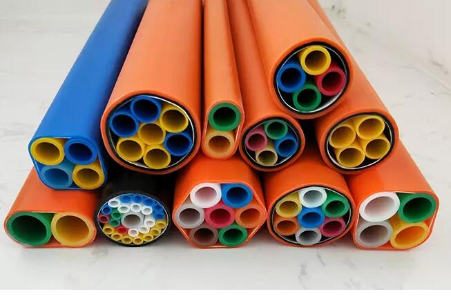 High Quality HDPE Direct Buried 7 Way 14/10mm Tube Bundle for Fiber Cable Blowing