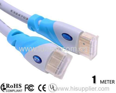 hot selling 1m HDMI Cable 1.4 Support 4k*2K 1080p,3D,Ethernet,ideal for Home theater,HDTV,PS3,2.0 hdmi cable