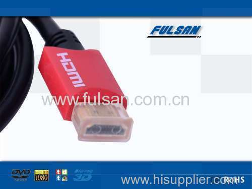 High speed Slim HDMI cable with 3D Ethernet and 1080P For PS3,DVD HDTV