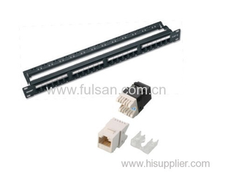 RJ45 AMP CAT6/Cat5e 24 Ports Patch Panel