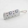 UK 3 Outlets/Plug 4 USB Smart Power Strip With Surge Protector