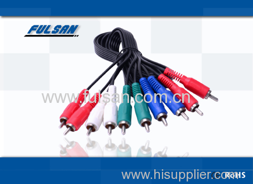 Good Price High Quality 5RCA Cable M/M Gold Plated