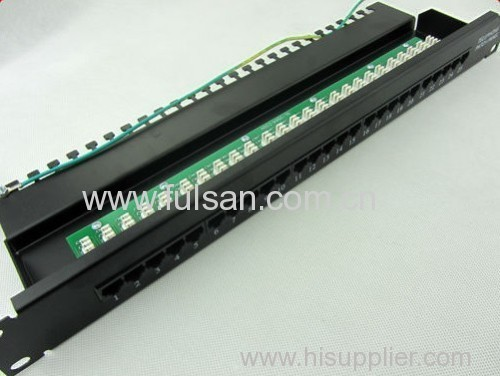 FTP/UTP Cat5e Patch Panel with UL Approval