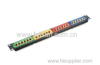 AMP 24 Port CAT6/Cat5e Patch Panel