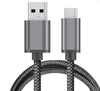 Space Gray Nylon Sleeve Braided Fast Charging Usb 3.1 Type C Cable To Usb A