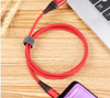 High Quality Nylon Braided Gold Plated 3A Fast Charging Micro USB Type C Cable