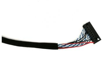 Custom 2 3 4 5 6 7 8 9 10 12 14 15 20 30 40 Pin Lvds Cable with 1571#32 HRS Connector Wire Cables Cable Assembly