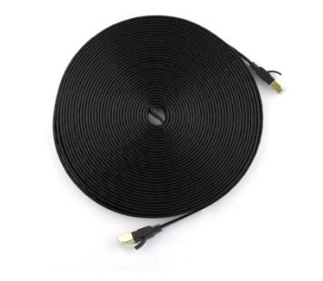 Cat 7 Network Cable Shielded (SFTP) High Speed Solid Flat Internet Lan Computer Patch Cord Ethernet Cable