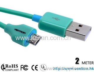 Micro USB Charging Cable for HTC Samsung i9100 i9220 MOTO