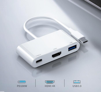 USB C 4K VGA HDMI Adapter Multiport Dock Hub PD Charging for laptop Switch