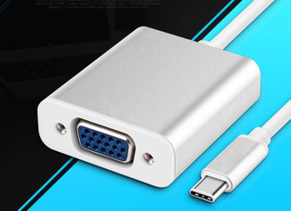 USB3.1 Type C to VGA Adapter Full HD 1080P Male To VGA Female Video Transfer Converter