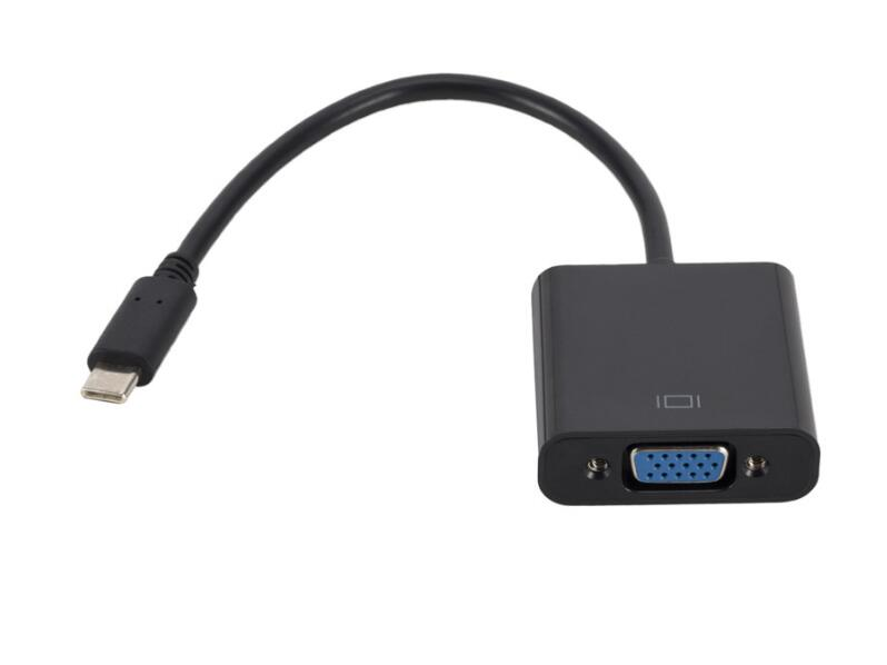20CM USB 3.1 Type C to VGA Adapter for MacBook Pro Chromebook Pixel Laptop