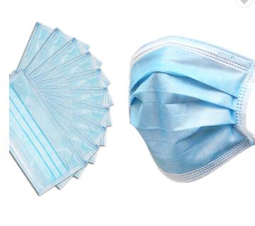 Disposable 3ply Non Woven Fabric Face Mask
