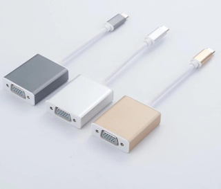 USB C To VGA PD Adapter for Macbook 3 in 1 Type C